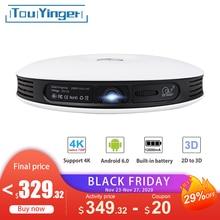 TouYinger G4 אנדרואיד DLP 2D כדי 3D מקרן wifi עבור טלפון מלא HD 4K וידאו נתונים להראות Bluetooth HDMI נייד קולנוע ביתי