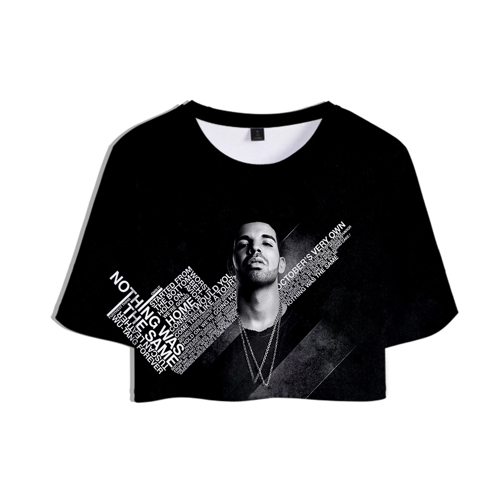 Rapper Aubrey Drake Graham Drake NEW Album Care Package <font><b>3D</b></font> Tops Girl Short <font><b>t</b></font>-<font><b>shirt</b></font> Women <font><b>Sexy</b></font> Sale Casual <font><b>T</b></font> <font><b>shirt</b></font> Clothes image