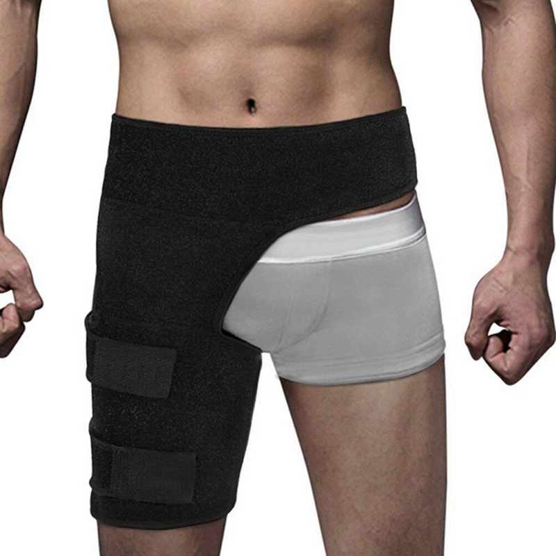 High-elastic Thigh Support Brace Groin Hamstring Injury Sprains Pain Relief Moisture Wicking Leg Wrap Prevent Hip Muscle Strain