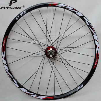 Pasak Mtb Front Wheelset 26 27.5 29 Disc Brake 32 Holes Sealed 2 Bearing Hub Mountain Bicycle Front Wheel QR 9x100mm front disc
