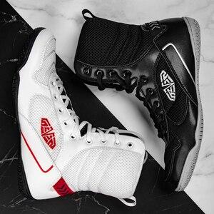 Новый Для мужчин боксерские ботинки высокое качество тренировочные туфли для Реслинга; Светильник Вес F светильник бокс кроссовки Для мужч...