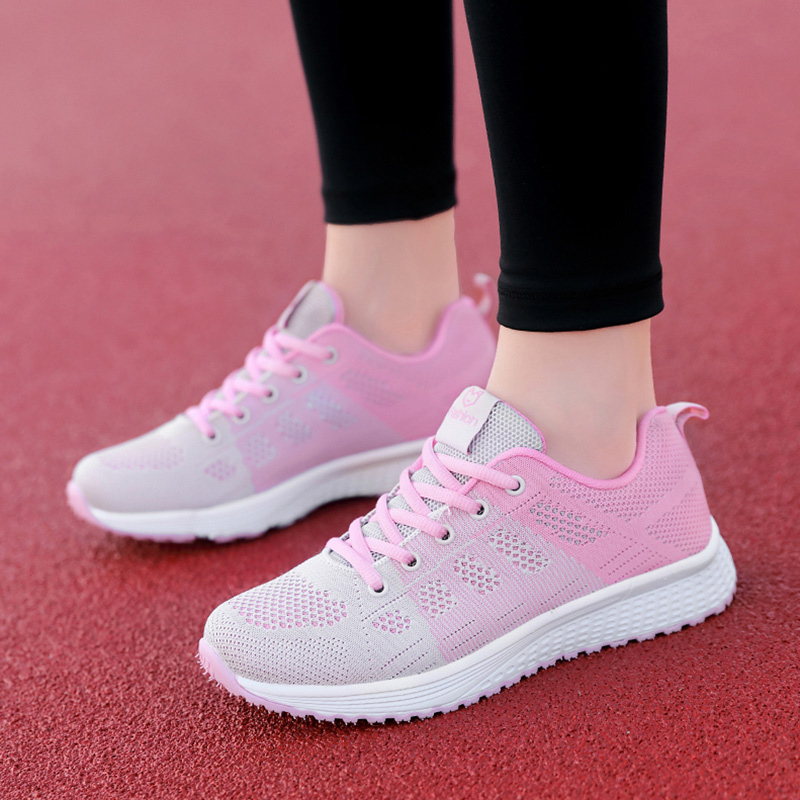 Women Sneakers 2019 Female Vulcanized Shoes Casual Shoes Ladies Flats Mesh Trainers Soft Walking Footwear Zapatos Mujer
