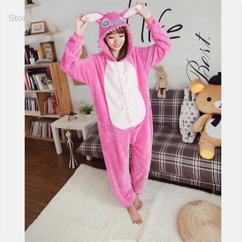 Pink Stitch  Kigurumi adult onesies Pyjamas Cartoon Animal Cosplay Costume Pajamas Onesies Sleepwear Halloween
