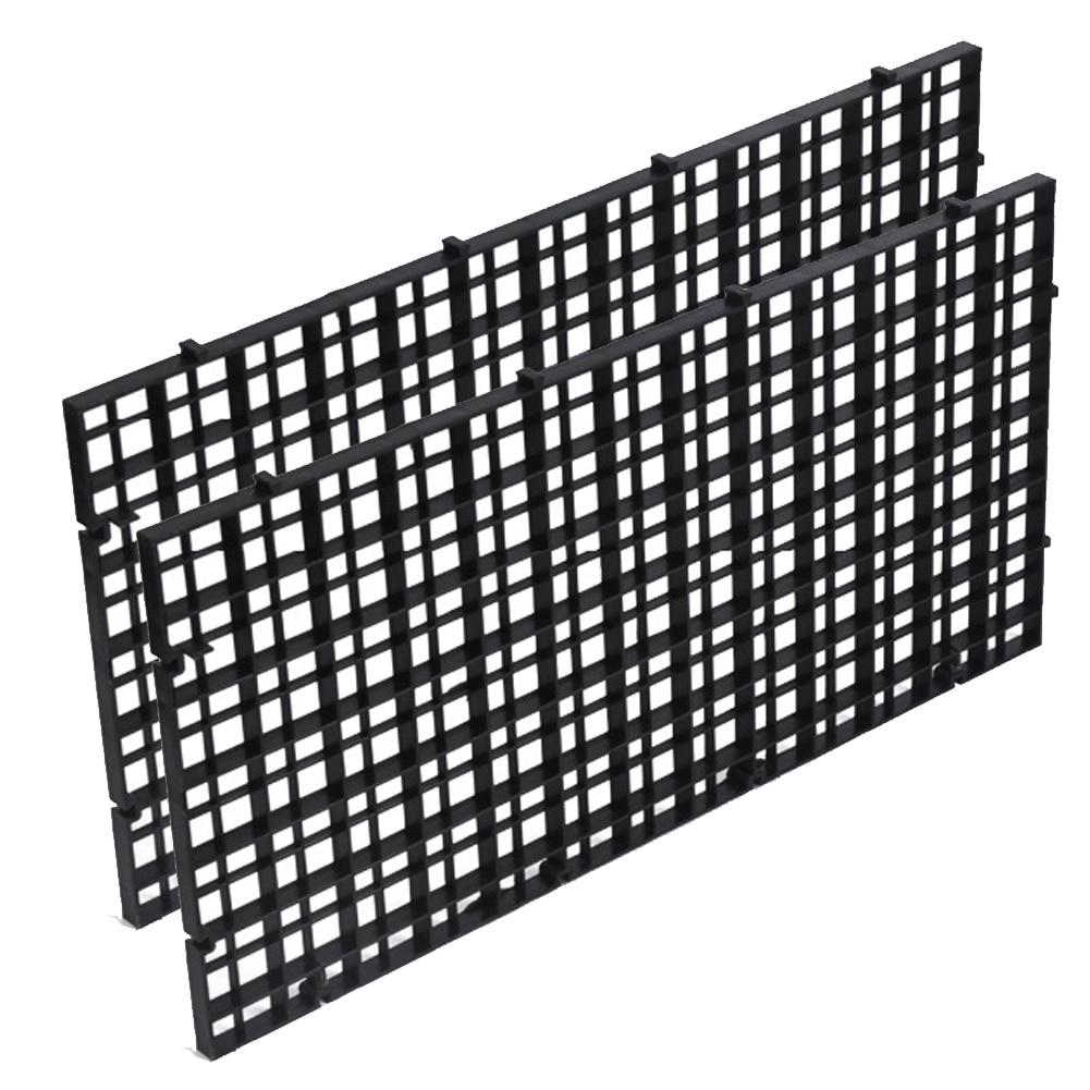2pcs Durable Aquarium Home Garden Professional Divide Accessories Fish Bottom Grid Isolate Board
