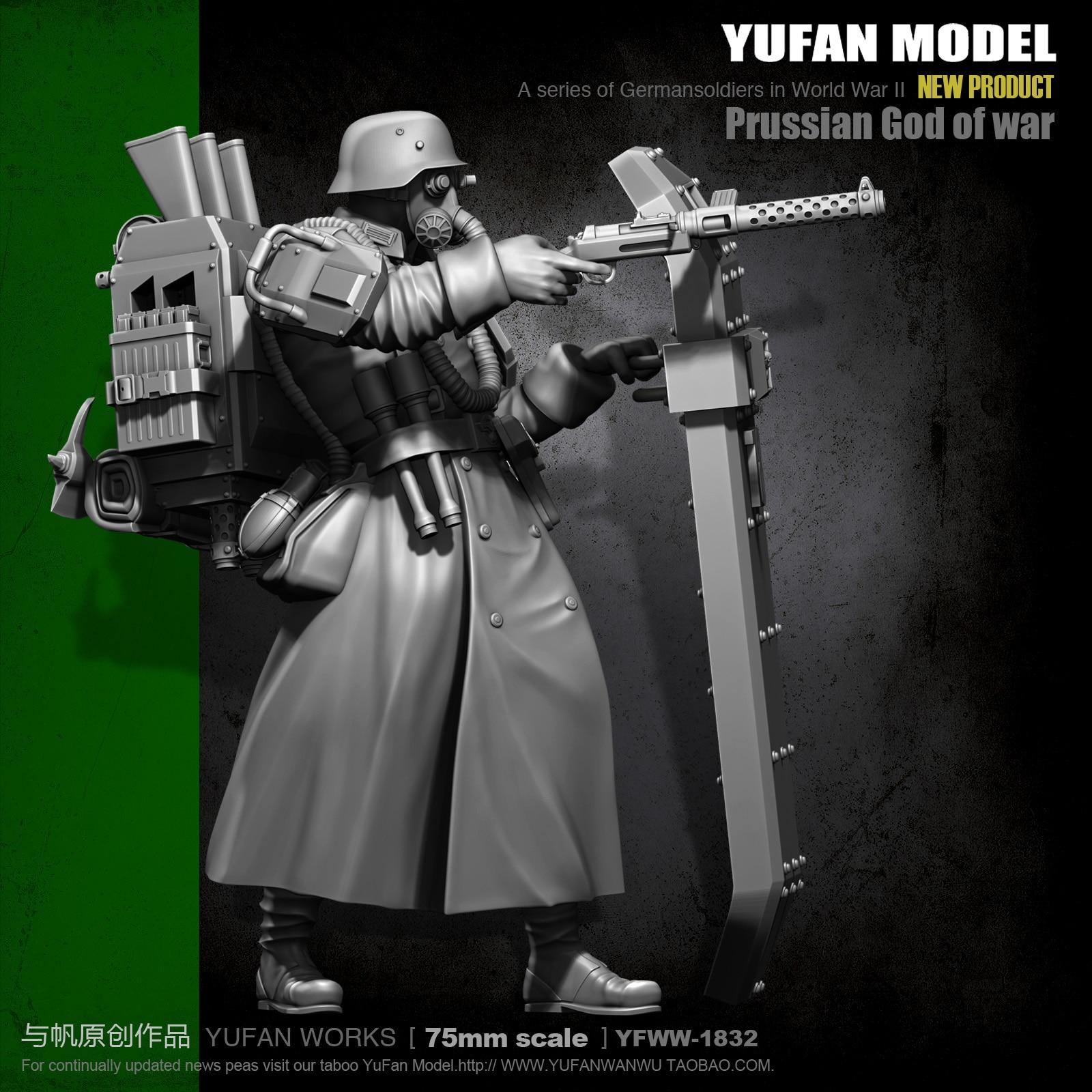 Yufan Model 1/24 Resin Figure Kits Steel Shield Flower Resin Soldier Self-assembled YFWW-1832