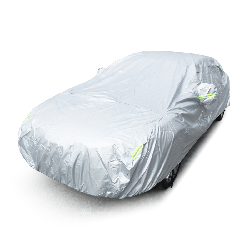 Size S-XXL Universal Full Car Covers Snow Ice Dust Sun UV Shade Cover Foldable Light Silver Auto Car Outdoor Protector Cover