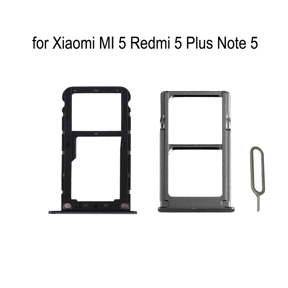 For XIAOMI MI 5 Redmi 5 Plus Note 5 Original Phone Housing New SIM Tray Adapter For Xiaomi Note 5 Plus Micro SD Card Tray Holder