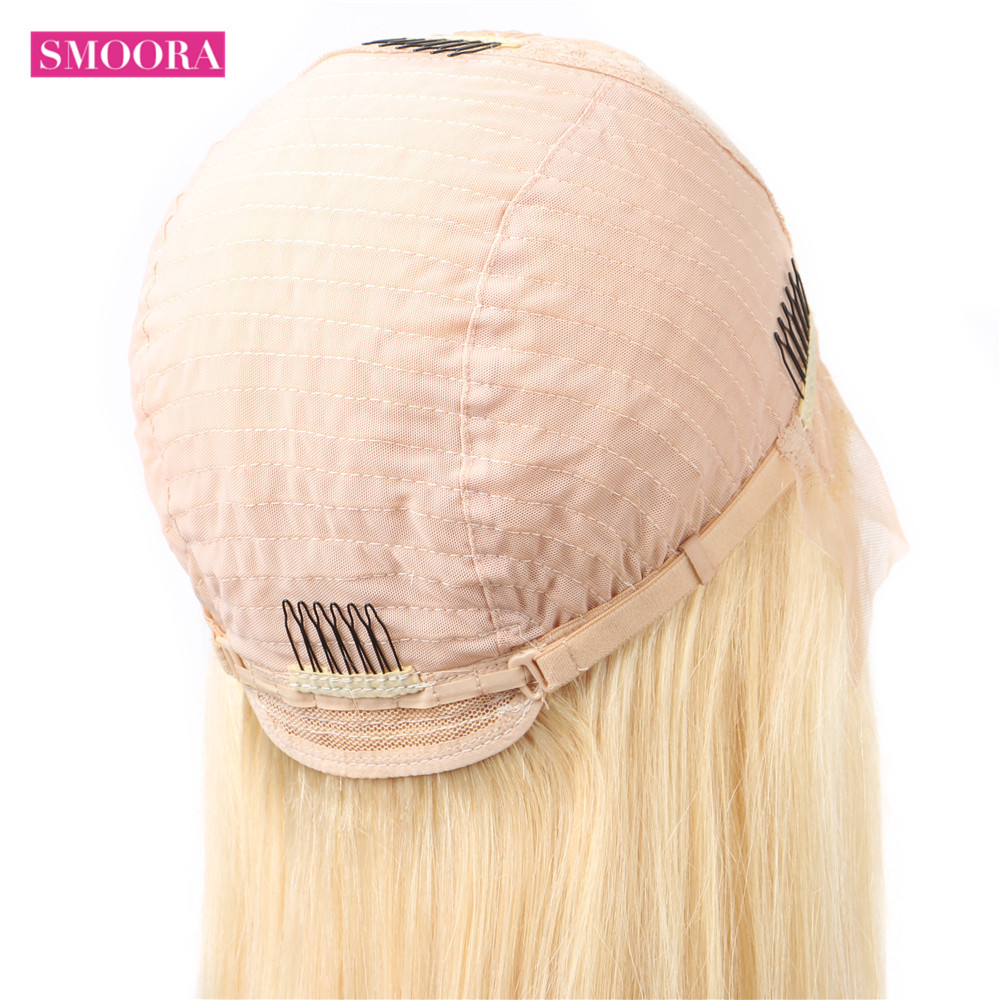 Middle Part Body Wave 13*1 Lace Front Wigs 28 inch   613 Blonde Deep Part Wig Pre Plucked With Baby Hair 4