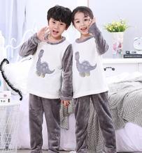 Зимние Детские флисовые пижамы, теплая фланелевая одежда для сна, домашняя одежда для девочек, детские пижамы из кораллового флиса, домашня...
