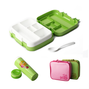 TUUTH Cartoon Lunch Box Microwave Leakproof BPA Free Lunch Box Set for Kid Children Student Portable Bento Box Set with Bottle