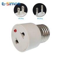 E27 ламповый патрон, светильник с вилкой США/ЕС, белый конвертер, винтовой лампочка, лампа для конвертера, базовый разъем, светильник, штепсельная вилка