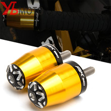 For KYMCO AK 550 AK550 2017 2020 2018 Accessories Motorcycle Cnc Handlebar Grips Handle Bar Ends plug gold Anti Vibration