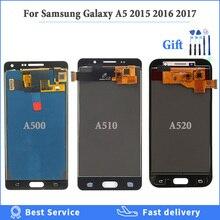 Яркость можно настраивать ЖК-дисплей для Samsung Galaxy A5 2017 2016 2017 A520 A500 A510 ЖК-дисплей с сенсорным экраном дигитайзер сборка + Инструменты
