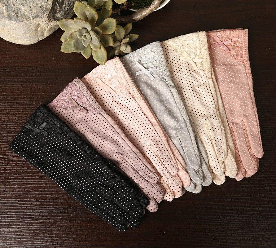 Pour l'été, très féminin gants stretch, anti-dérapant, aérés, avec doigt tactile !! plusieurs couleurs- taille unique- livraison gratuite