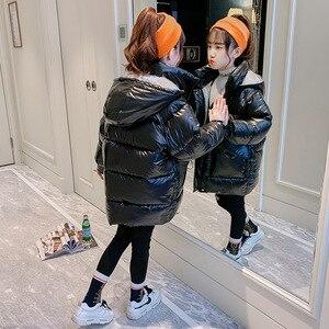 Image 3 - Heißer verkauf Weihnachten Mädchen Warme winter Mantel Künstliche haar Lange Kinder Mit Kapuze Jacke mantel für mädchen oberbekleidung mädchen Kleidung 4 12 y