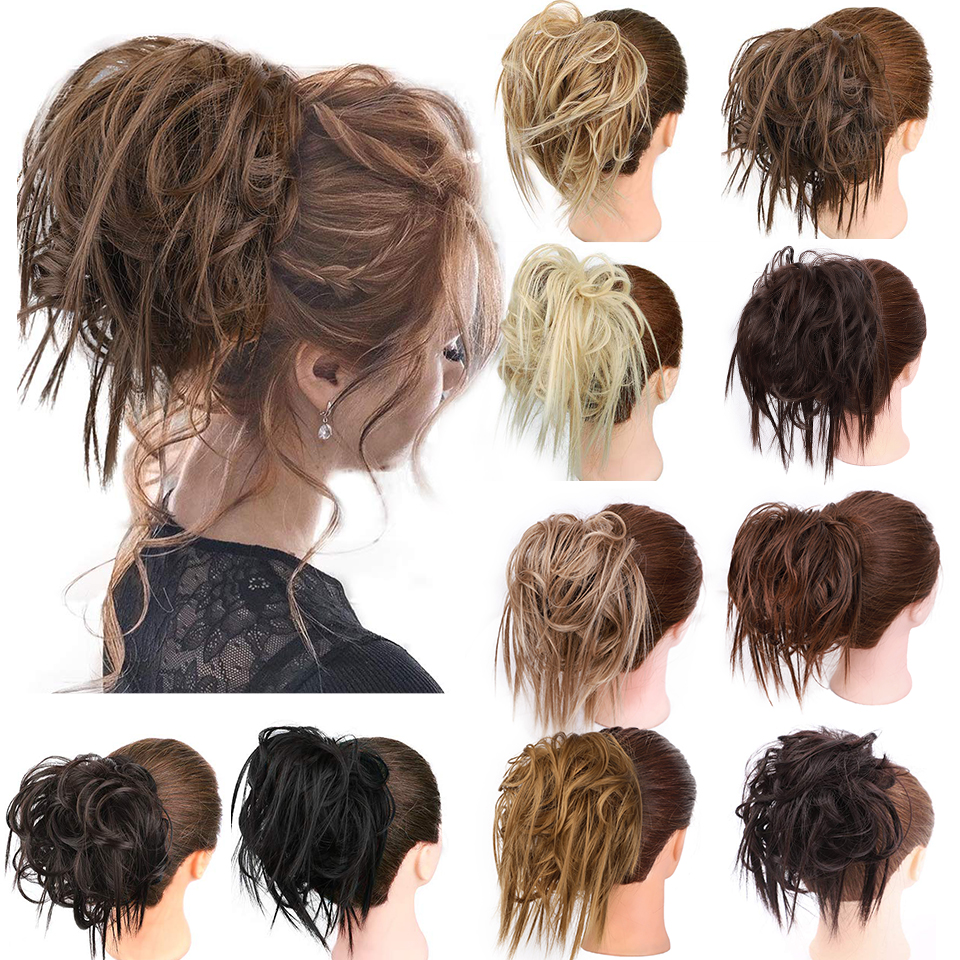Stamped  Glorious Extension Ponytail With Elastic Rubber Band Updo Extensions Hairpiece Synthetic Hair Extensions