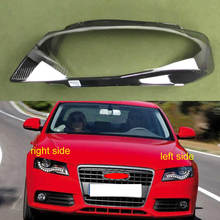 For Audi A4 A4L B8 2009 2010 2011 2012 Headlight Lamp Shade Special Transparent Lampshade Headlights Shell Headlamps Cover Glass