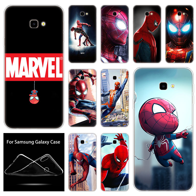 Weiche Silikon Fall <font><b>Marvel</b></font> hero Spiderman Für <font><b>Samsung</b></font> <font><b>Galaxy</b></font> J8 J6 J4 J2 Pro 2018 Core J6 J7 Prime J3 2016 <font><b>J5</b></font> <font><b>2017</b></font> EU J4 Plus image