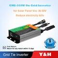 Y & H 350 Вт 300 Вт солнечные сетки галстук инвертора микро-инвертор со слежением за максимальной точкой мощности, Водонепроницаемый IP65 DC18V-50V PV В...