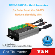 Y & H-microinversor de conexión a red Solar, 350W, 300W, MPPT, impermeable, IP65, DC18V-50V, salida de AC110V-240V de entrada PV, sistema Solar en red para el hogar