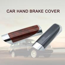 Hamulec ręczny zestaw uniwersalny hamulec ręczny ABS plastikowa obudowa antypoślizgowy Auto hamulec postojowy tanie tanio Car hand brake Cover high-quality ABS plastic black red