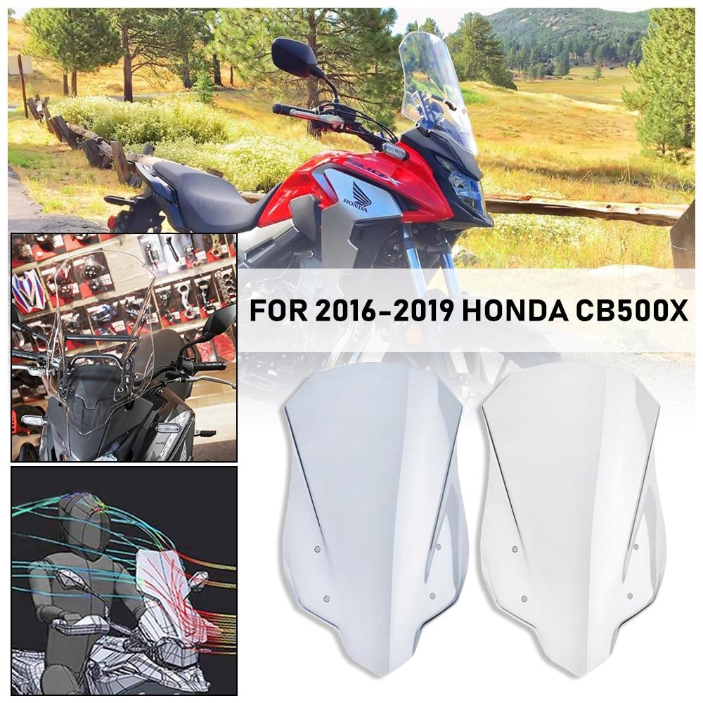 CB500X Windshield Windscreen For 2016 2017 2018 2019 Honda CB 500X Injection Wind Screen Flyscreen Deflector Visor Protector