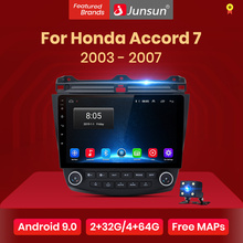 Junsun V1 Android 9,0 Radio Für Honda Accord 7 2003-2007 Auto Radio Multimedia Video Player Navigation 4G GPS 2din keine dvd