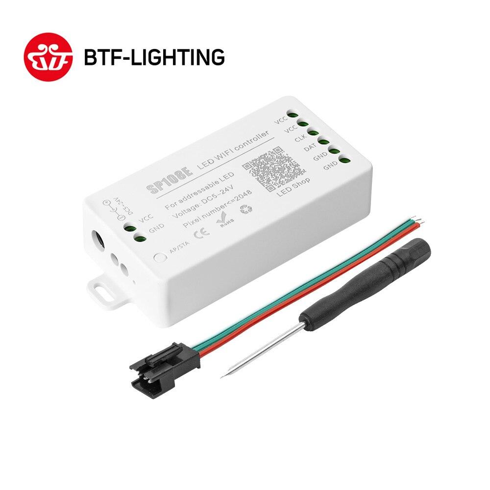 SP108E LED 無線 Lan コントローラ WS2812B WS2813 など LED ストリップモジュールライトスマート App ワイヤレス制御 IOS 10/アンドロイド 4.4 DC5-24V