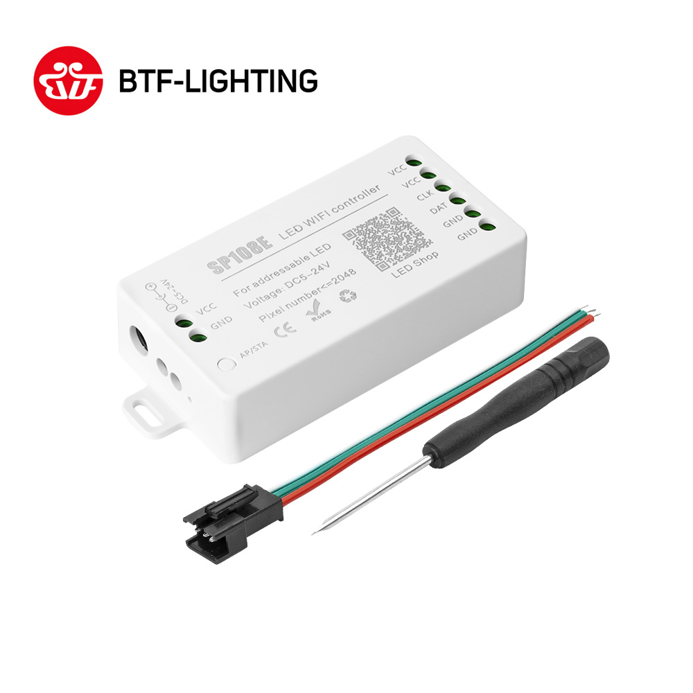 SP108E LED Wifi Magic Controller WS2812B WS2813 Etc LED Strip Module Light Smart APP Wireless Control IOS 10/Android 4.4 DC5-24V