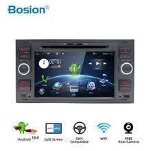Bosion 2DIN Auto DVD Player Multimedia Für Ford Fiesta Ford Focus 2 Mondeo 4 C Max S Max fusionTransit Radio GPS Navigation