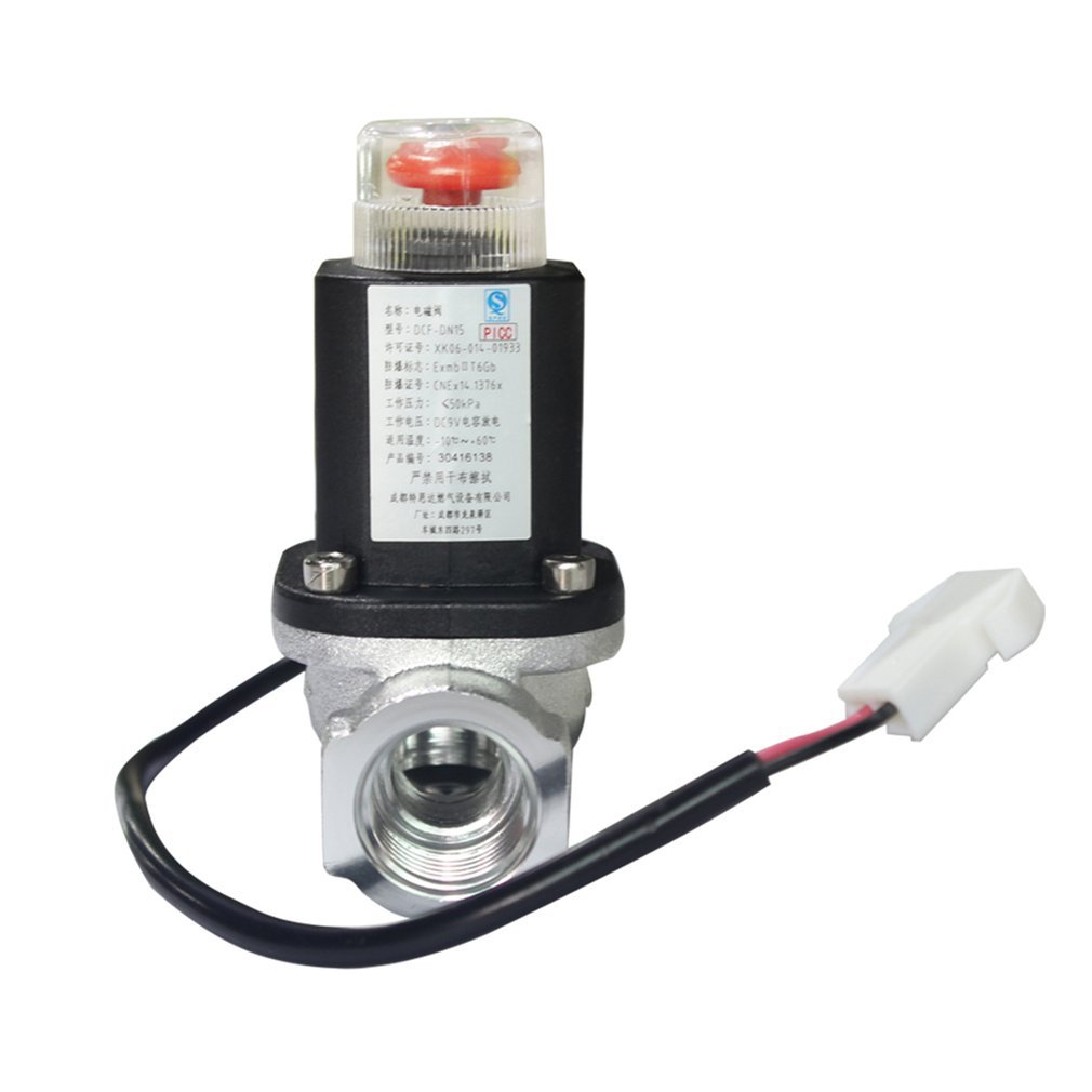 Automatic Sensing LPG Natural Gas Emergency Shut Off Solenoid Valve For Home Security Alarm System & Alarming Leak Gas Pipeline