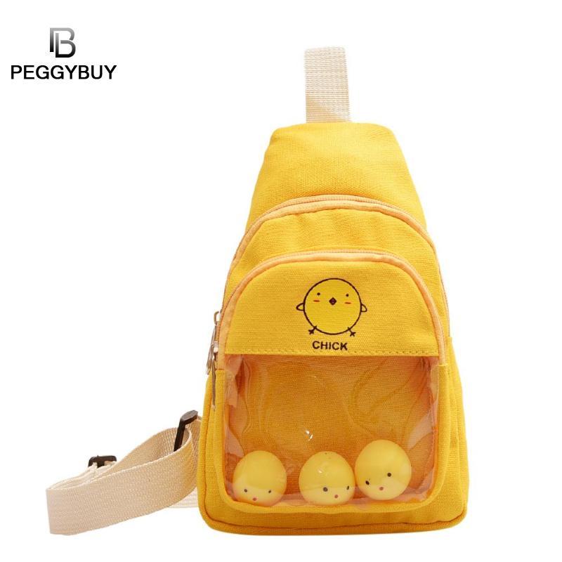 Cute Cartoon Printing Waist Packs Women Fanny Packs Korea And Japan Style Mini Waist Bags Fanny Zipper Phone Pack Crossbody Bags