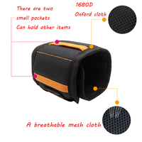 Geoeon Multi-function Magnetic Wristband Oxford Cloth Portable Tool Bag  Wrist Tool for fixing Drill Nail Screw D35