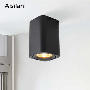 Aisilan  LED Surface Mounted  Square Nordic Ceiling Downlight  for Room/Corridor/Hallway/Foyer AC85-260V COB  Cube Spot light - DISCOUNT ITEM  34% OFF All Category