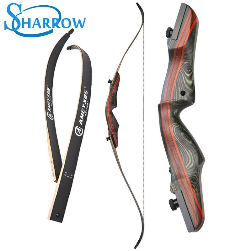 """Arco recurvado de madeira, 62 """", 20-50lbs, tiro ao alvo, caça, arco de bordo, alta resistência, estilingue"""