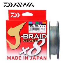 Daiwa linha de pesca J BRAID grand, linha trançada de 135m, 150m, m, 8 fios, pe, monofilamento de pesca 10 60lbs, feita no japão,