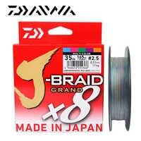Daiwa original novo J-BRAID grande linha de pesca 135 m 150 m 8 fios trançado pe linha pesca monofilamento 10-60lb feito no japão