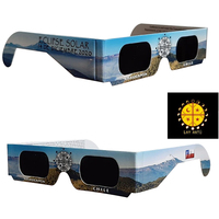 300pcs Hot sale CE certified total solar eclipse viewing glasses safe For Chile 2020