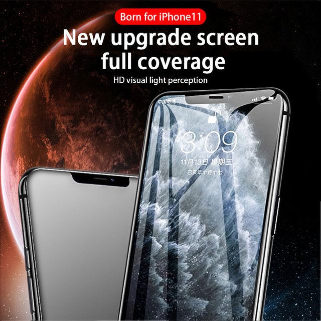 10000D Curved Full Cover Protective Glass On For iPhone 12 11 Pro X XR XS Max Tempered Screen Protector iPhone 7 8 6S Plus Glass