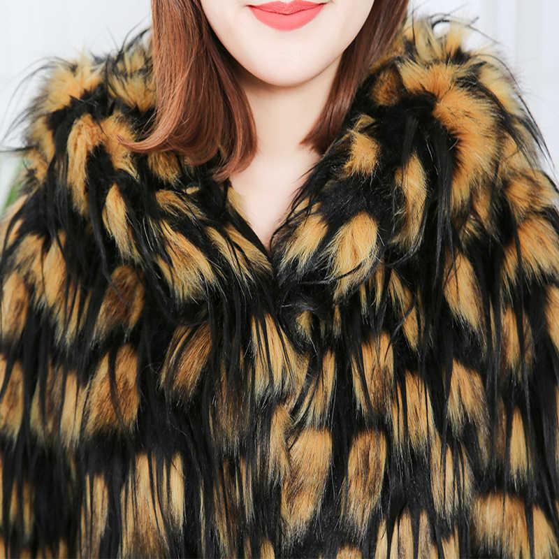 Nerazzurri נשים של פו פרווה חורף מעילים עם ברדס ארוך שרוול לעבות חם נשים אופנה מעילי womans בתוספת גודל faux פרווה מעיל