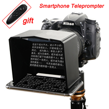 Smartphone טלפרומפטר עבור Canon Nikon Sony DSLR מצלמה תמונה סטודיו עבור Youtube ראיון וידאו לחשן צג טלפרומפטר