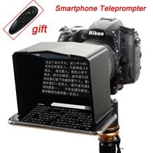Smartphone Teleprompter Voor Canon Nikon Sony Dslr Camera Photo Studio Voor Youtube Interview Video Snellere Monitor Teleprompter