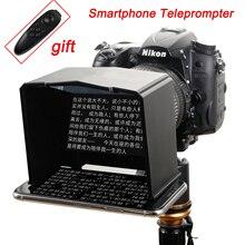 Teleprompter para teléfono inteligente, para Canon, Nikon, Sony, DSLR, foto de cámara, estudio para entrevista en Youtube, vídeo, Monitor, Teleprompter