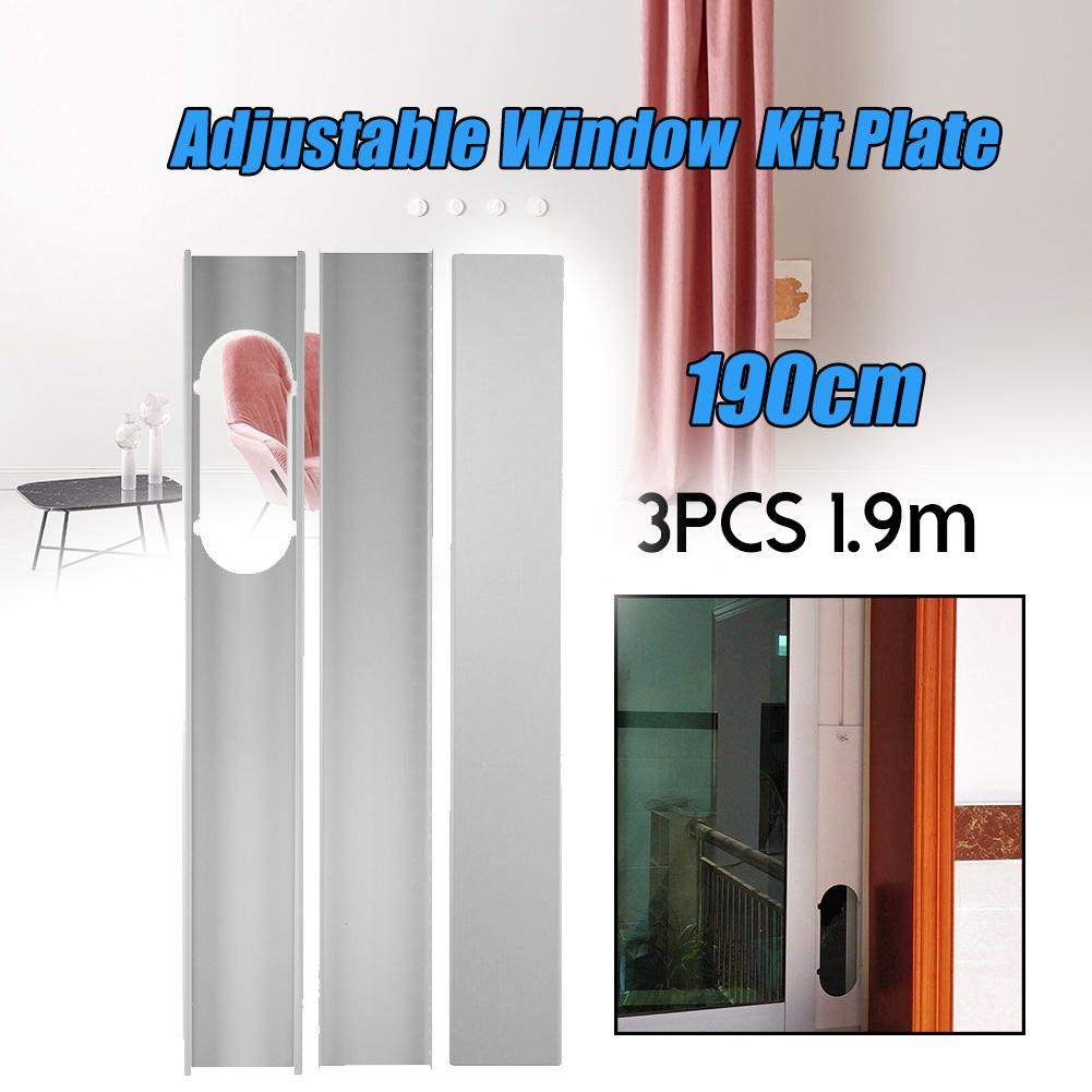 New 3Pcs Portable Window Adaptor/Window Slide Kit Plate Set Exhaust Tube Connector For Household Portable Air Conditioner