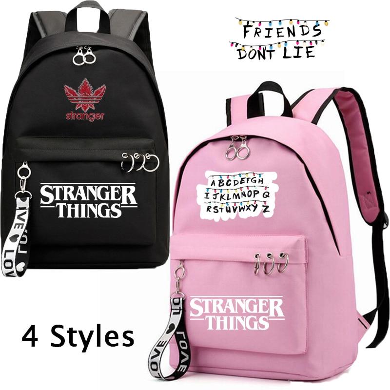 Купить рюкзаки imido «очень странные дела» для студентов черные и розовые