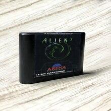 Estrangeiro 3 eur etiqueta flashkit md electroless ouro pcb cartão para sega genesis megadrive console de jogos de vídeo
