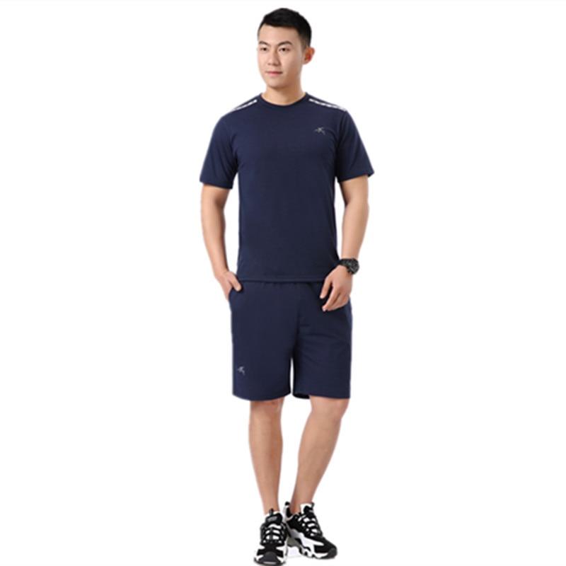 Sports Set Men's Summer Short-sleeved Men Leisure Set Middle-aged Aunt Daddy Clothes Half Sleeve Two-Piece Set Jogging Suits