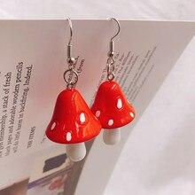 Boucles d'oreilles pendantes en forme de champignon, en acrylique, longues, de qualité, pour filles, femmes, enfants, cadeau d'anniversaire, bijoux ravissants, nouvelle collection 2021