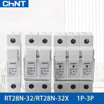 цена на CHINT RT28N-32X  AC 45-62HZ 500V fusible cutout 1P 2P 3P Easy to replace fuse 2A 4A 6A 10A 16A 20A 25A 32A