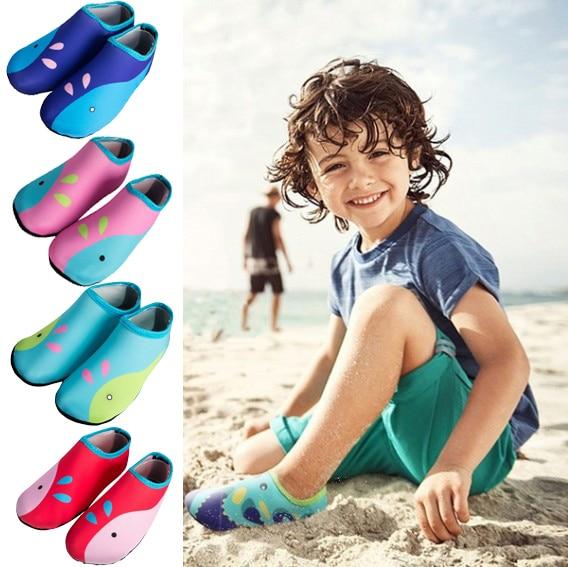 2019 New Beach Swimming Water Sport Socks Anti Slip Shoes Yoga Fitness Dance Swim Surfing Diving Underwater Shoes For Kids D40